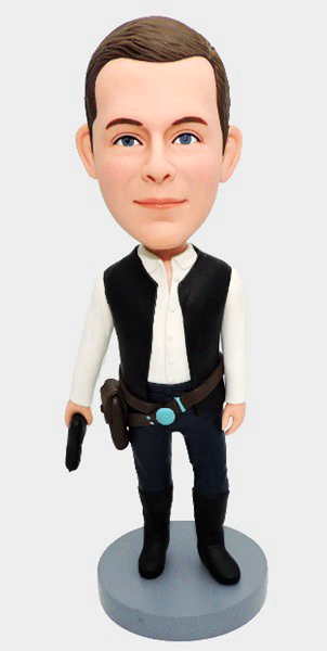 Custom Star Wars Han solo bobbleheads