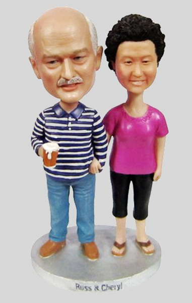Custom Make bobbleheads for Parents anniversary