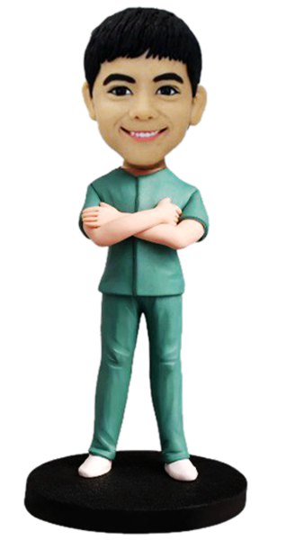 Custom Custom Bobblehead Male Nurse