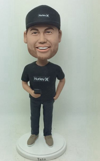 Custom All in black bobblehead