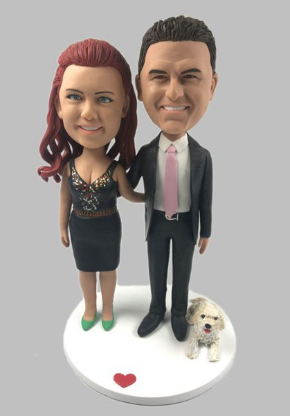 Custom Custom Anniversary Bobbleheads With Pet