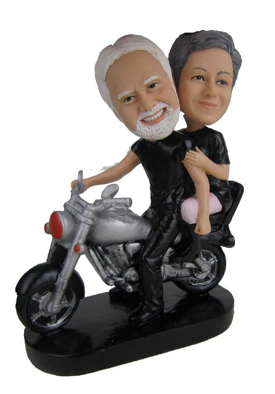 Custom Parents on Harley Davidson bobbleheads