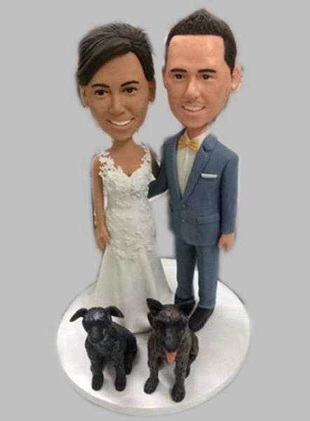 Custom Create your own wedding bobbleheads(no pet)