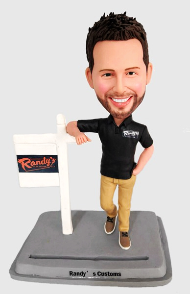 Custom Custom Bobblehead Business Card Holder