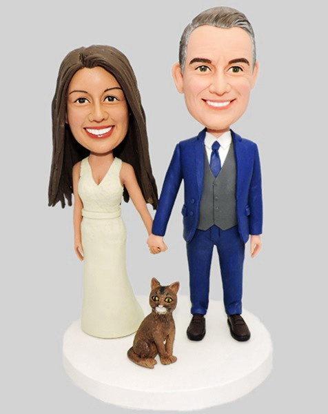 Custom Custom Your Wedding Bobblehead With Pet