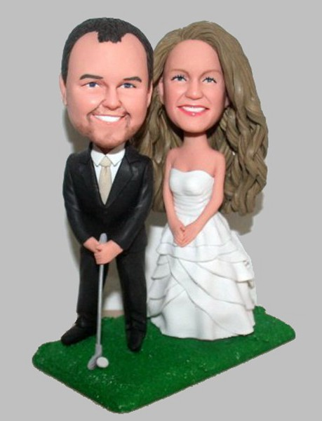 Custom Custom Bobblehead Golf Cake Toppers