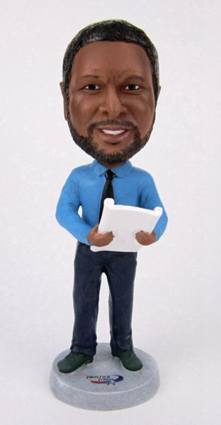 Custom Custom business man bobblehead holding book