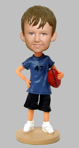 Custom Football bobblehdad look like my child