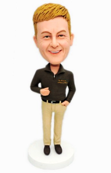 Custom Create Business Casual Male Bobbleheads