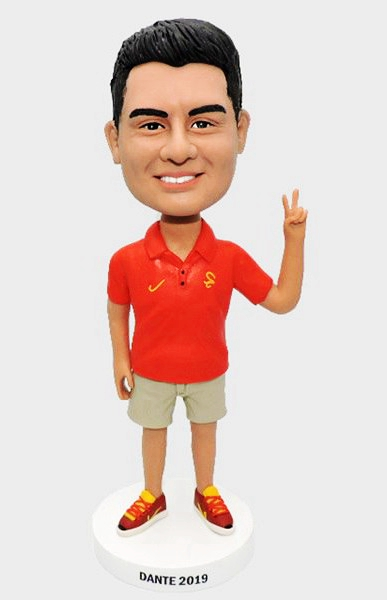 Custom Personalize bobbleeheads with peace sign