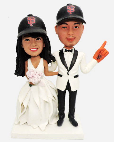 Custom Custom San Francisco Giants Baseball Wedding Bobblehead
