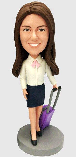 Custom Custom Female Bobbleheads Flight Attendant