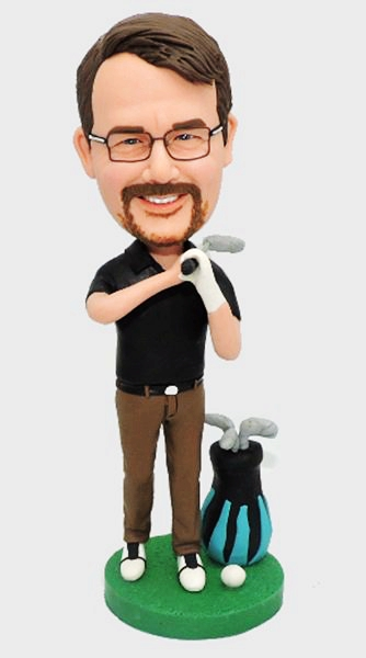 Custom Create Bobbleheads-Golf Player