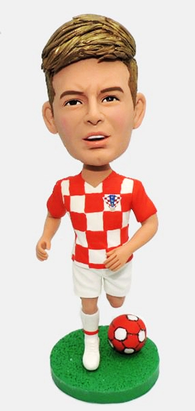 Custom Create Boy With Soccer Ball Bobbleheads