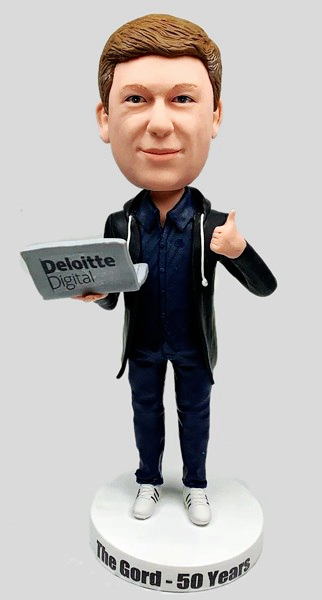 Custom Custom Business Bobblehead Hold Laptop