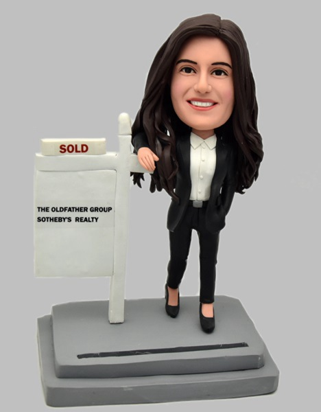 Custom Custom Bobblehead Female Real Estate Agent
