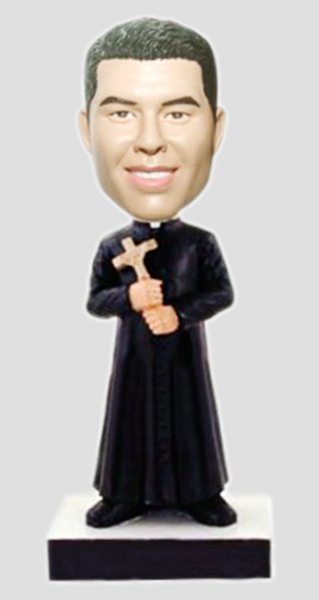 Custom Custom priest bobbleheads with crucifix