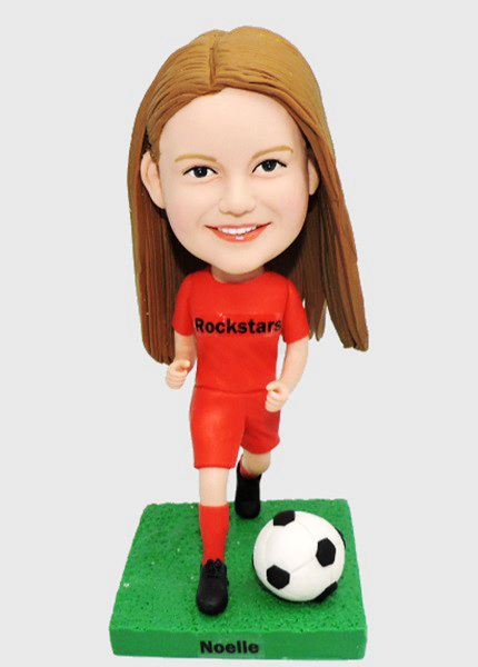 Custom Personalized Football Bobblehead For Girl