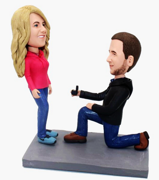 Custom Custom Wedding Bobblehead Proposal