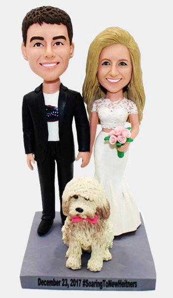 Custom Custom Wedding Bobbleheads With Pet
