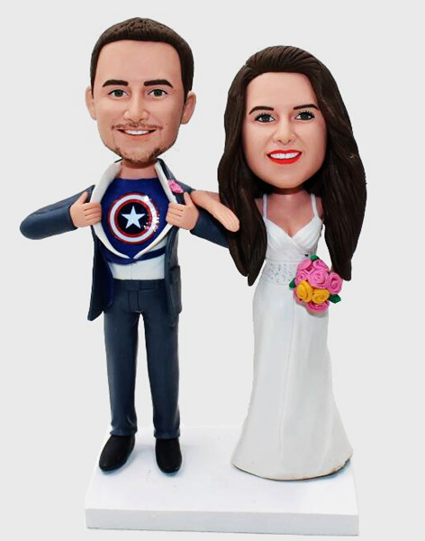 Custom Custom Superman Transform Wedding Bobblehead