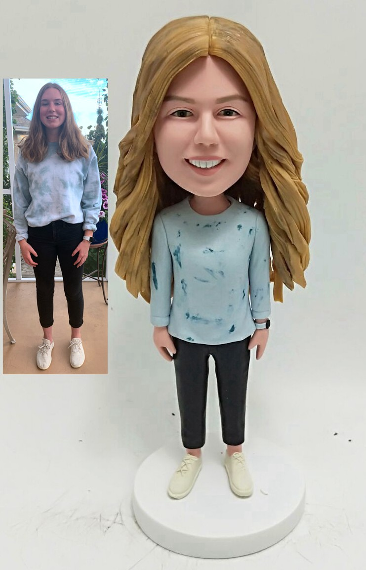 Custom Custom Bobblehead Gift For Girl