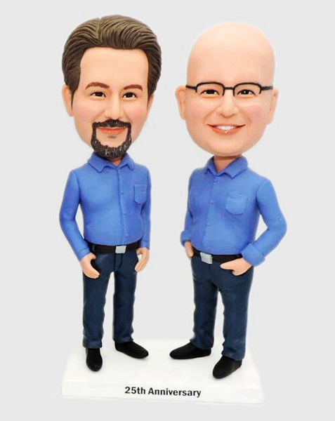 Custom Custom Bobbleheads For Business Partner