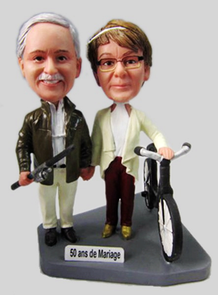 Custom Custom anniversary bobbleheads make look like you