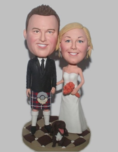 Custom Custom Irish Wedding cake toppers