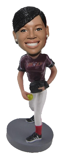 Custom Softball bobblehead doll