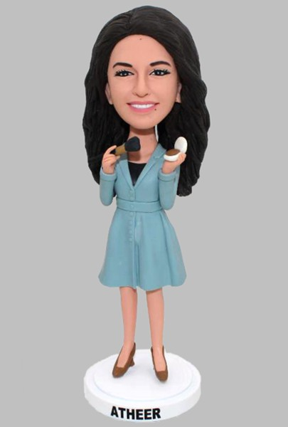 Custom Custom Bobblehead Make Up Woman
