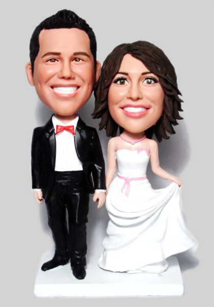 Custom Wedding bobbleheads cake toppers