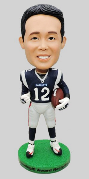 Custom New England Patriots football bobblehead