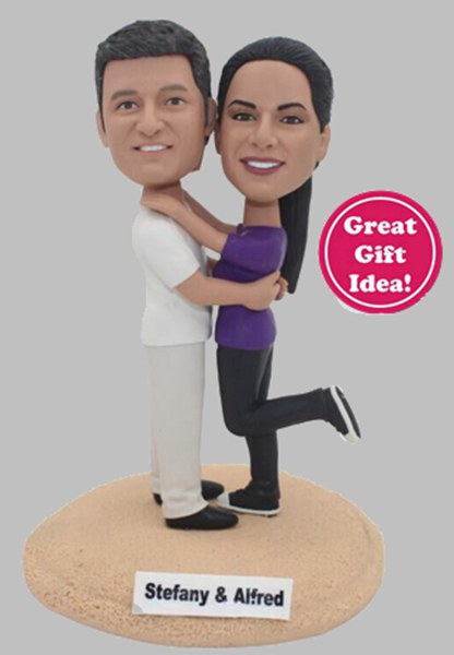 Custom Anniversary bobbleheads look like your parents