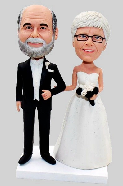 Custom Create Your Own Bobbleheads For Wedding