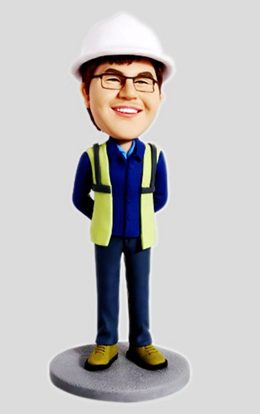 Custom Custom Construction Worker Bobblehead