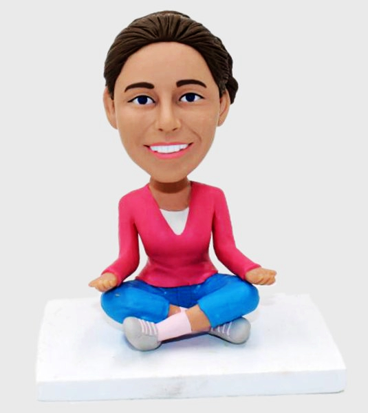 Custom Custom Bobblehead Female Yoga