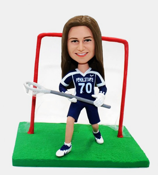 Custom Custom Bobblehead Female Lacrosse