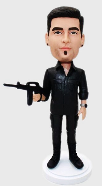 Custom Create your bobbleheads with gun