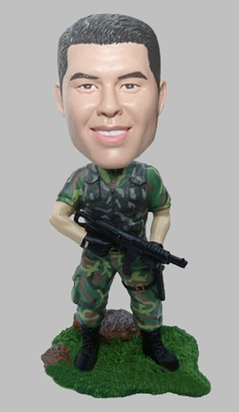 Custom Military camouflage bobblehead