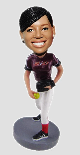 Custom Create Softball bobblehead
