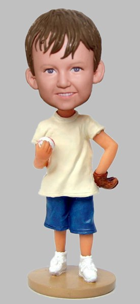Custom Baseball Little Pitcher bobblehead