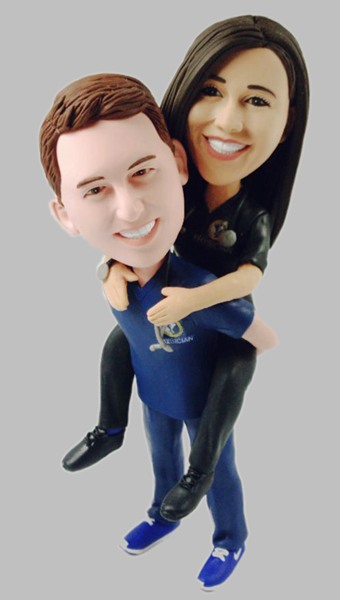 Custom Custom Wedding Bobbleheads For Doctor