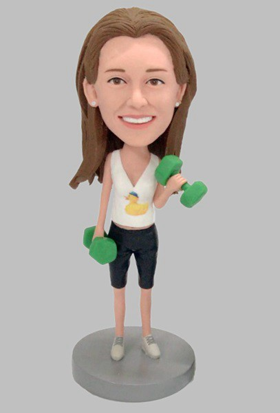Custom Custom Fitness Bobbleheads Lift The Dumbbell