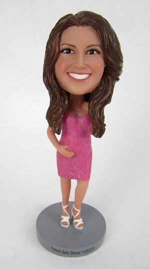 Custom Pregnant mother bobblehead