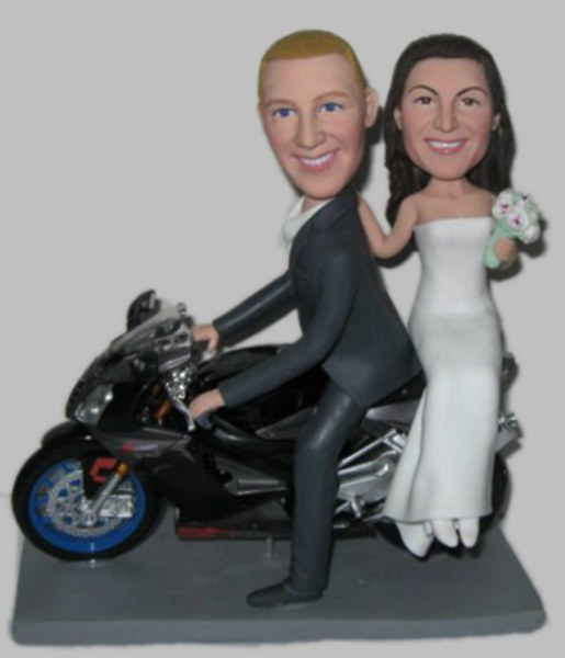 Custom Custom cake toppers Motorcycle wedding