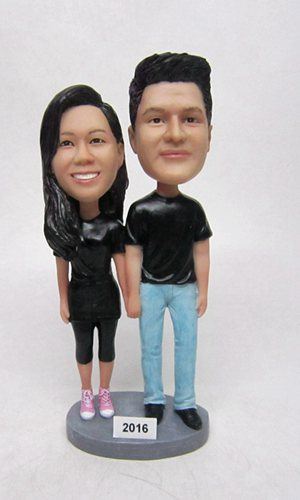 Custom Custom couple bobbleheads anniversary gift for parents