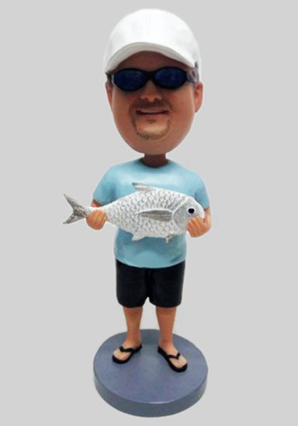 Custom Custom fishing bobblehead birthday gift for grandpa