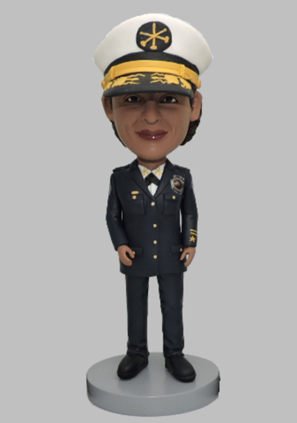 Custom Custom Female Police Bobbleheads