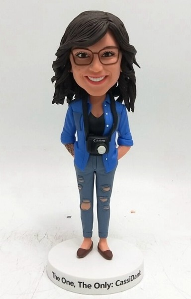 Custom Custom Bobblehead Female Photographer